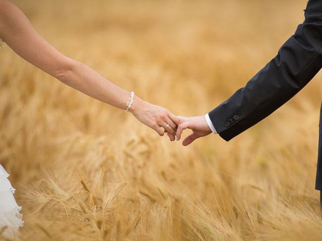 Hochzeitsfoto vom Heiraten